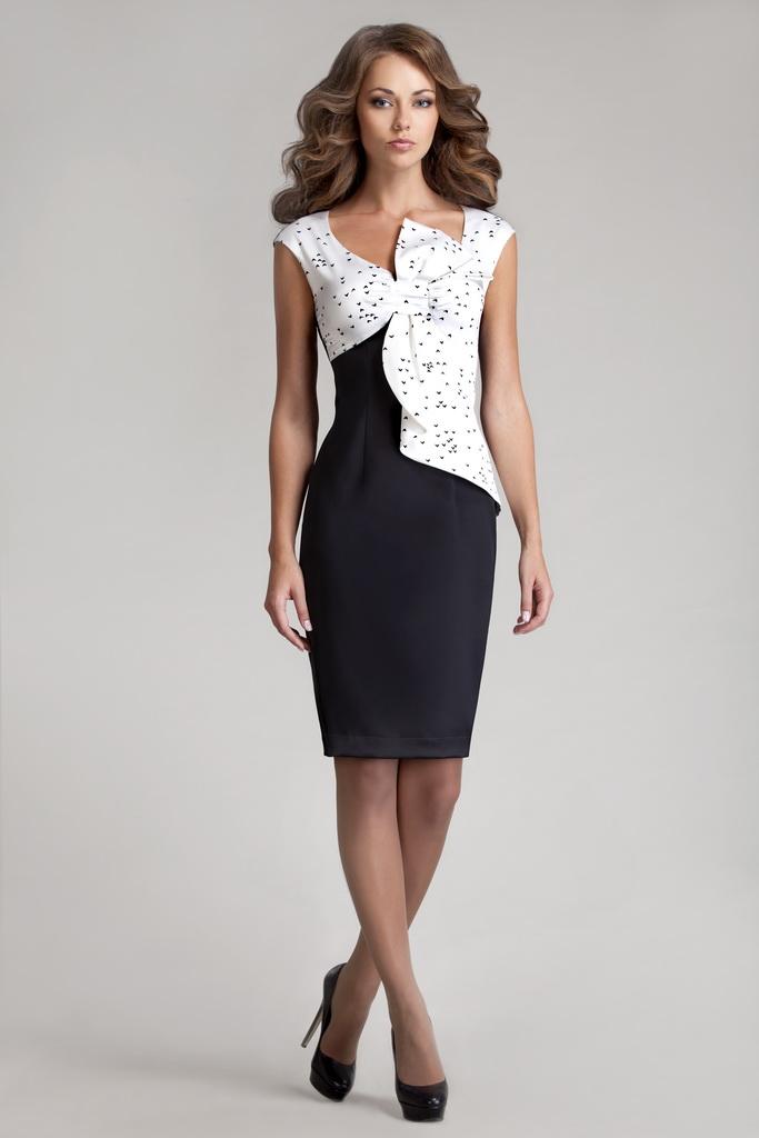 Платье Черно Белое Купить В Интернет Магазине